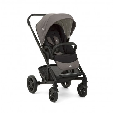 Stroller Chrome W/RC & Adpt Foggy Gray