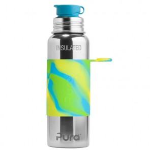 22oz/650ml Insulated Sport Bottle, Aqua Swirl