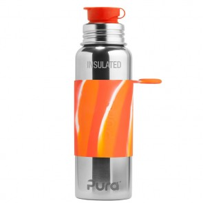 22oz/650ml Insulated Sport Bottle, Orange Swirl