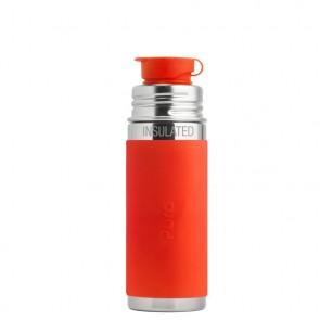 9oz/260ml Insulated Sport Bottle w/Orange Sleeve