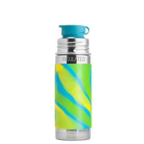 9oz/260ml Insulated Sport Bottle w/Aqua Swirl Sleeve
