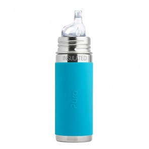 9oz/260ml Insulated Sippy Cup w/Aqua Sleeve