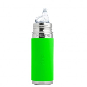 9oz/260ml Insulated Sippy Bottle w/Green Sleeve