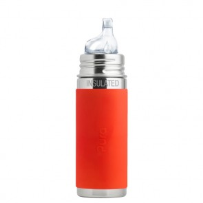 9oz/260ml Insulated Sippy Bottle w/Orange Sleeve