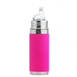 9 oz/260ml Insulated Sippy Bottle w/Pink Sleeve