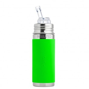 9oz/260ml Insulated Straw Cup w/Green Sleeve