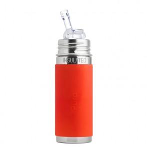 9oz/260ml Insulated Straw Cup w/Orange Sleeve