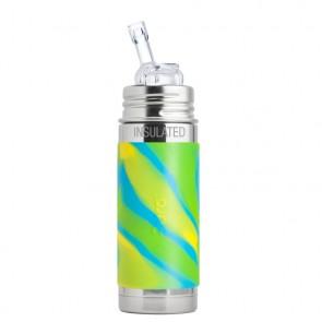 9oz/260ml Insulated Straw Cup w/Aqua Swirl Sleeve