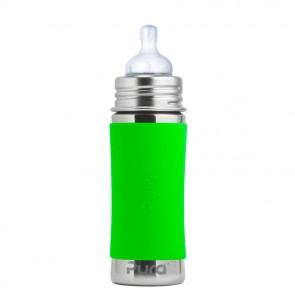 11oz/325ml Infant Bottle w/Green Sleeve