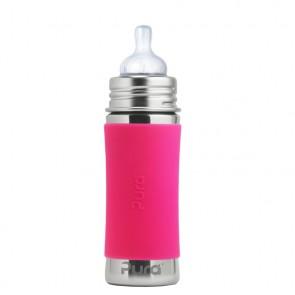 11oz/325ml Infant Bottle w/Pink Sleeve